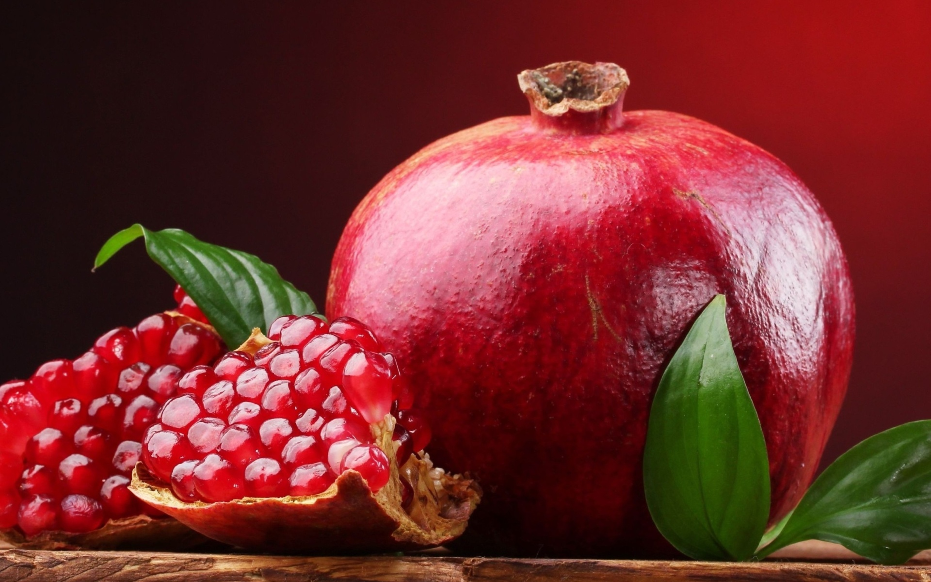 Full hd fruits wallpaper - Ripe Fruit Pomegranate Background For Widescreen Desktop Pc 1920x1080 Full Hd