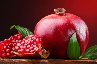 Free Ripe fruit pomegranate Picture for Android, iPhone and iPad