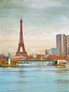 Screenshot №1 pro téma Eiffel Tower and Paris 16th District 240x320