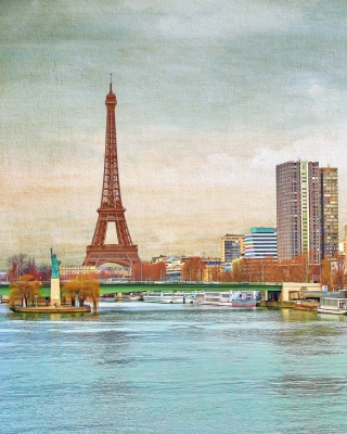 Eiffel Tower and Paris 16th District - Obrázkek zdarma pro 480x800