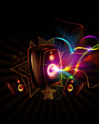 Dark Speakers Wallpaper for Nokia Asha 306