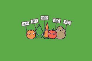 Vegetable Protest Picture for Android, iPhone and iPad