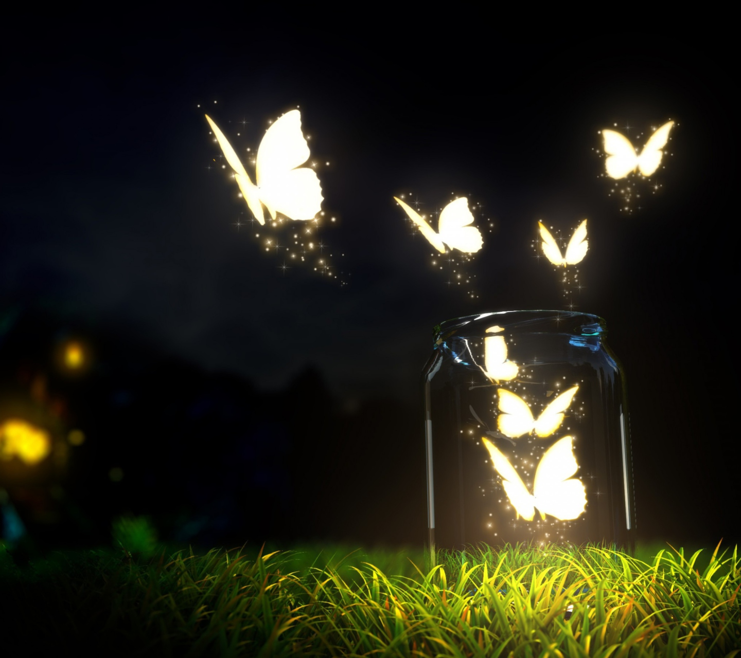 Screenshot №1 pro téma Light Butterflies 1440x1280